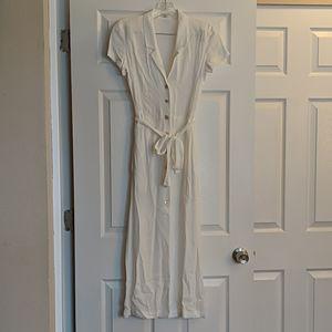 Aritzia Wilfred White Midi Shirt Dress XXS